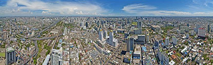 Bangkok, 360° panorama From top of the Bayok Building